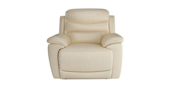 Landos manual recliner Leather Recliner Sofa Set Online Bangalore Cream 1 Seater