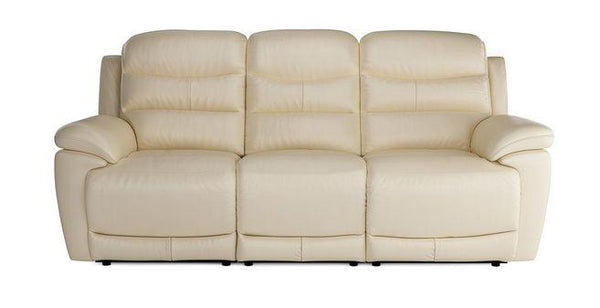 Landos manual recliner Leather Recliner Sofa Set Online Bangalore Cream 3 Seater