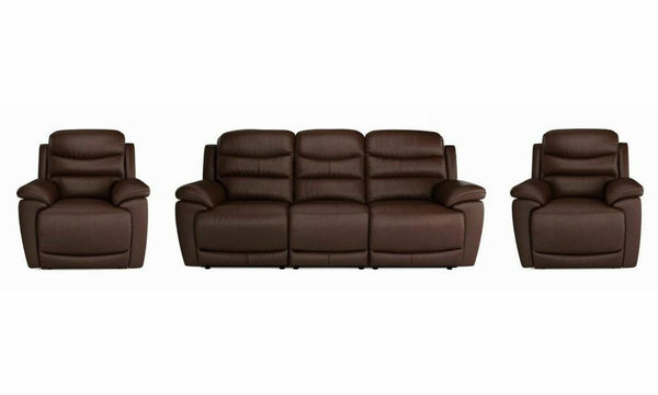 Landos manual recliner Leather Recliner Sofa Set Online Bangalore DMaroon 3+1+1