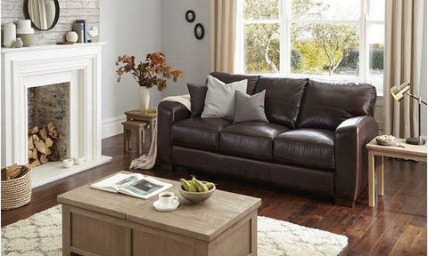 3 seater Leather Sofa -www.yellowliving.in Manufacturers in Bangalore