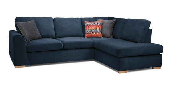 Marquee L shape fabric sofa Fabric Sofas Sofa Set Online Bangalore L shape Dark Blue
