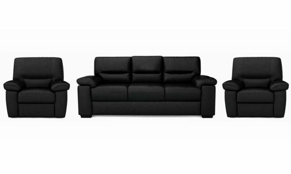 Mellow art leather sofa set Leather Sofa Sofa Set Online Bangalore Black 3+1+1