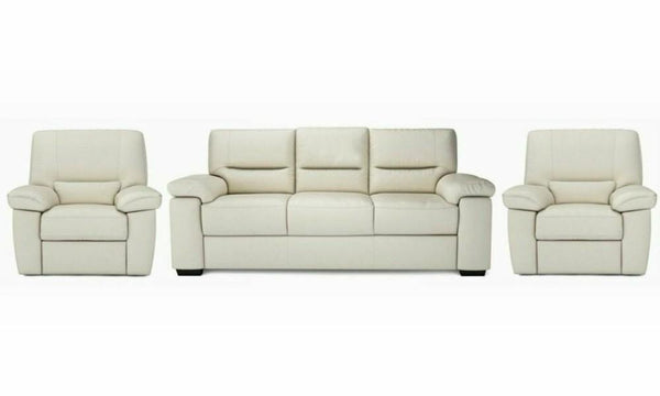Mellow art leather sofa set Leather Sofa Sofa Set Online Bangalore Cream 3+1+1