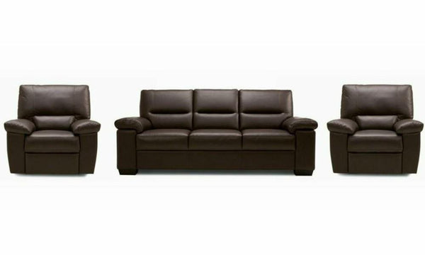 Mellow art leather sofa set Leather Sofa Sofa Set Online Bangalore DBrown 3+1+1