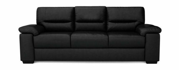 Mellow genuine leather sofa set Genuine Leather Sofa Sofa Set Online Bangalore Black 3 Seater