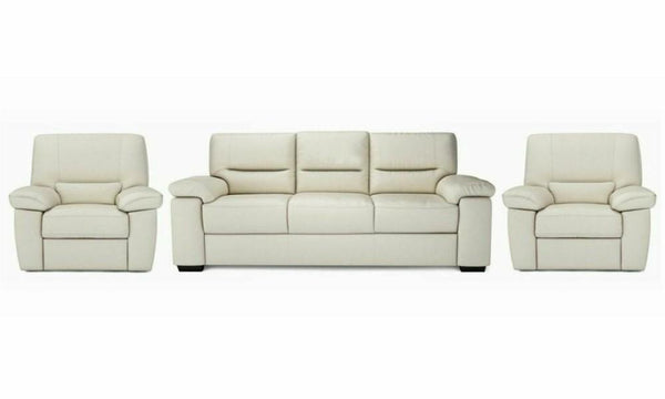 Mellow genuine leather sofa set Genuine Leather Sofa Sofa Set Online Bangalore Cream 3+1+1