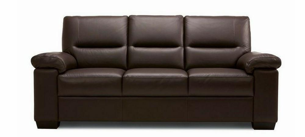 Mellow genuine leather sofa set Genuine Leather Sofa Sofa Set Online Bangalore DBrown 3 Seater