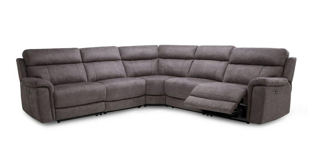 Monarch in grey power plus corner recliner Fabric Recliner Sofa Set Online Bangalore 6 Seater