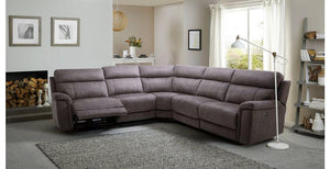 Monarch in grey power plus corner recliner Fabric Recliner Sofa Set Online Bangalore