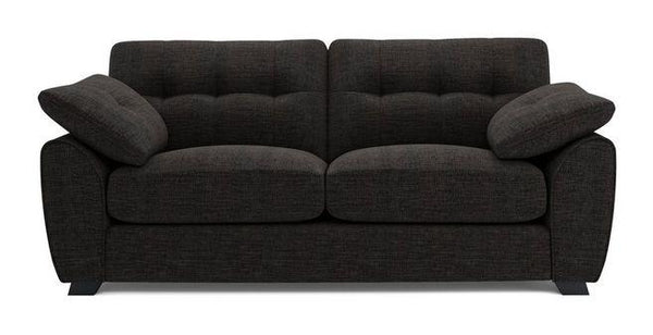 Morton fabric sofa set Fabric Sofas Sofa Set Online Bangalore Black 3 Seater