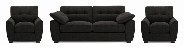 Morton fabric sofa set Fabric Sofas Sofa Set Online Bangalore Black 3+1+1