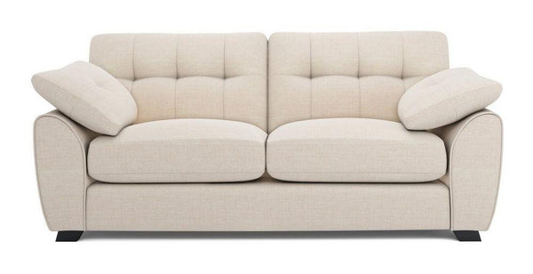 Morton fabric sofa set Fabric Sofas Sofa Set Online Bangalore Cream 3 Seater