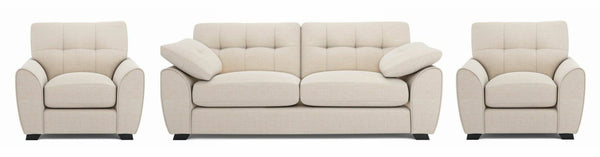 Morton fabric sofa set Fabric Sofas Sofa Set Online Bangalore Cream 3+1+1