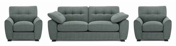 Morton fabric sofa set Fabric Sofas Sofa Set Online Bangalore DGreen 3+1+1