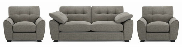Morton fabric sofa set Fabric Sofas Sofa Set Online Bangalore Grey Ash 3+1+1