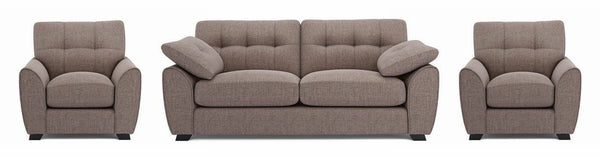 Morton fabric sofa set Fabric Sofas Sofa Set Online Bangalore Ground Nut 3+1+1