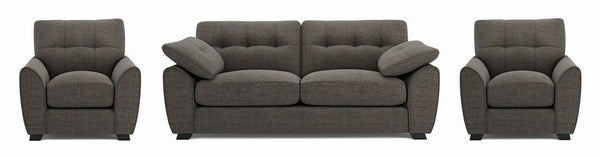 Morton fabric sofa set Fabric Sofas Sofa Set Online Bangalore LBrown 3+1+1