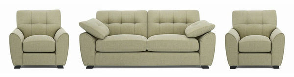Morton fabric sofa set Fabric Sofas Sofa Set Online Bangalore Lite Green 3+1+1