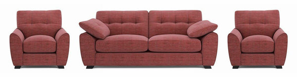 Morton fabric sofa set Fabric Sofas Sofa Set Online Bangalore LRed 3+1+1