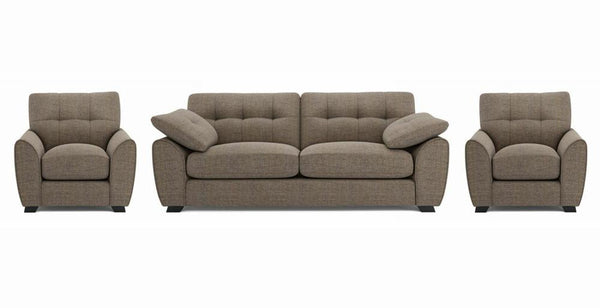 Morton fabric sofa set Fabric Sofas Sofa Set Online Bangalore Mocha 3+1+1