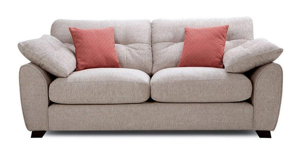 Morton fabric sofa set Fabric Sofas Sofa Set Online Bangalore Sand 3 Seater