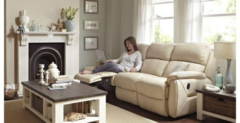 Navona manual recliner Leather Recliner Sofa Set Online Bangalore
