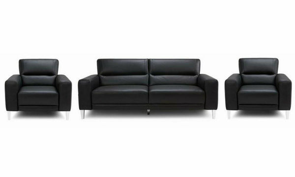 Novu genuine leather sofa set Genuine Leather Sofa Sofa Set Online Bangalore Black 3+1+1
