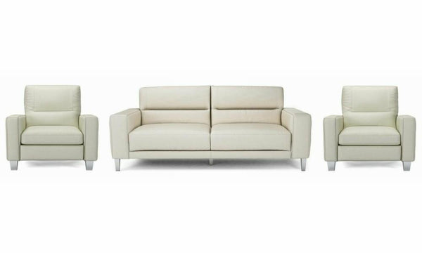 Novu genuine leather sofa set Genuine Leather Sofa Sofa Set Online Bangalore Cream 3+1+1