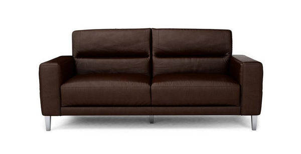 Novu genuine leather sofa set Genuine Leather Sofa Sofa Set Online Bangalore DBrown 3 Seater