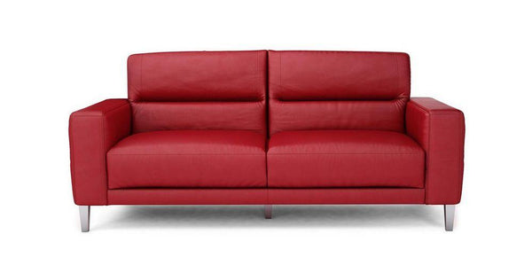 Novu genuine leather sofa set Genuine Leather Sofa Sofa Set Online Bangalore Red 3 Seater