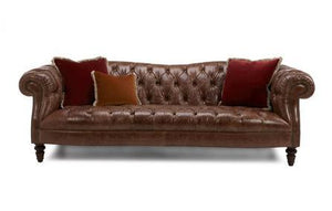 Palace art leather sofa Leather Sofa Sofa Set Online Bangalore Brown 3 Seater