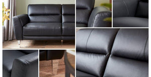 Pienza in barolo art leather sofa set Leather Sofa Sofa Set Online Bangalore