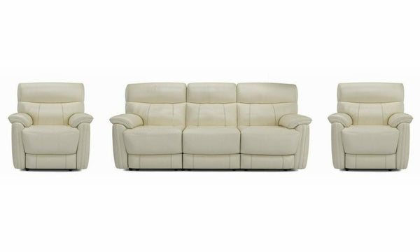 Pryme manual recliner Leather Recliner Sofa Set Online Bangalore Cream 3+1+1