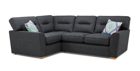 Revive charcoal black corner sofa Fabric Sofas Sofa Set Online Bangalore Charcoal L Shape