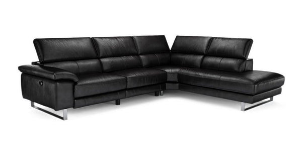 Salone L Shape 5 Seater Genuine Leather Recliner Genuine Leather Recliner Sofa Set Online Bangalore L Shape Black