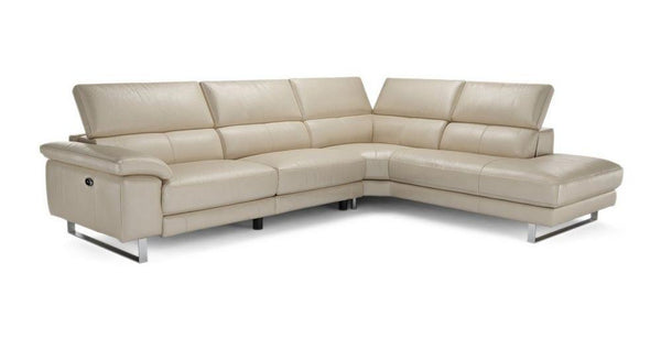 Salone L Shape 5 Seater Genuine Leather Recliner Genuine Leather Recliner Sofa Set Online Bangalore L Shape Cream