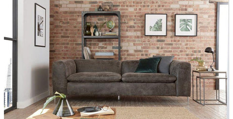 Shivani in moro art leather sofa Leather Sofa Sofa Set Online Bangalore