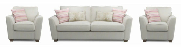 Sophia fabric sofa set Fabric Sofas Sofa Set Online Bangalore Cream 3+1+1