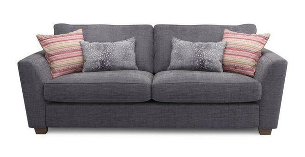 Sophia fabric sofa set Fabric Sofas Sofa Set Online Bangalore Dark Ash 3 Seater