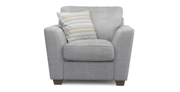 Sophia fabric sofa set Fabric Sofas Sofa Set Online Bangalore Lite Grey 1 Seater