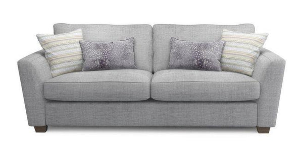 Sophia fabric sofa set Fabric Sofas Sofa Set Online Bangalore Lite Grey 3 Seater