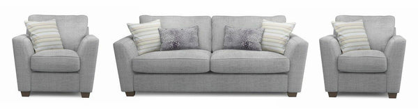 Sophia fabric sofa set Fabric Sofas Sofa Set Online Bangalore Lite Grey 3+1+1