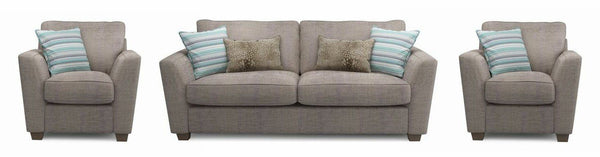 Sophia fabric sofa set Fabric Sofas Sofa Set Online Bangalore Mocha 3+1+1