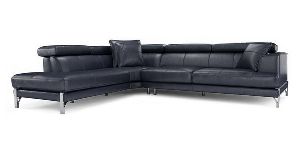 Stage 5 Seater L Shape Genuine Leather Recliner Genuine Leather Recliner Sofa Set Online Bangalore L Shape Blue