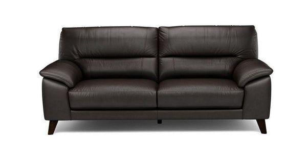 Three seater genuine leather sofa Genuine Leather Sofa Sofa Set Online Bangalore Black 3 Seater