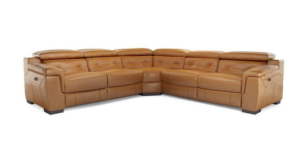 Torino 5 Seater L Shape Genuine Leather Recliner Genuine Leather Recliner Sofa Set Online Bangalore L Shape Brown