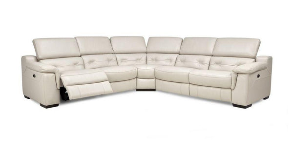 Torino 5 Seater L Shape Genuine Leather Recliner Genuine Leather Recliner Sofa Set Online Bangalore L Shape Cream
