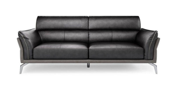 Valdez art leather sofa Leather Sofa Sofa Set Online Bangalore Black 3 Seater