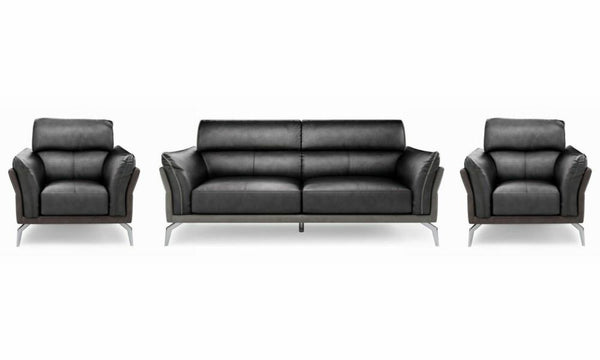 Valdez art leather sofa Leather Sofa Sofa Set Online Bangalore Black 3+1+1