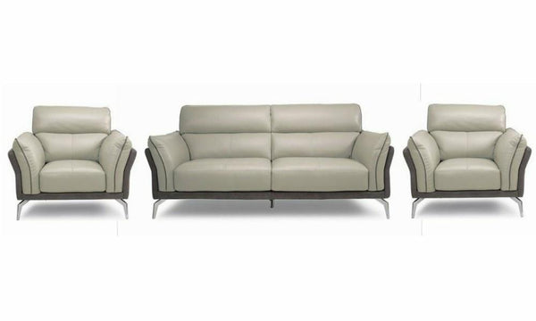 Valdez art leather sofa Leather Sofa Sofa Set Online Bangalore Grey 3+1+1